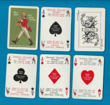 Collectable vintage adverting playing cards Johnnie Walker Whisky